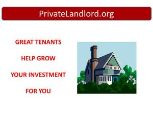 Private Landlord Rentals